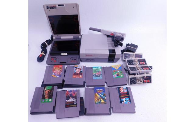 Lot #77 Nintendo NES + 8 Games - 1/6