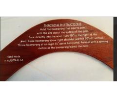 Lot #90 Handmade Australian Wood Boomerang - Image 3/5