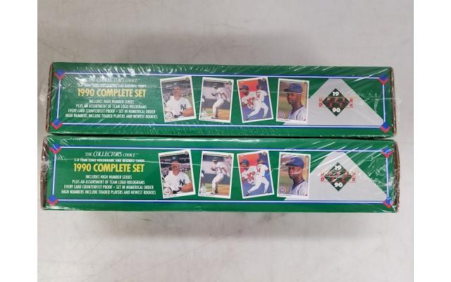 Lot #92 Lot of 2 Baseball cards 1990 Complete set - 2/2