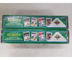 Lot #92 Lot of 2 Baseball cards 1990 Complete set